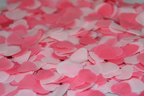 Bath Confetti Heart Rose