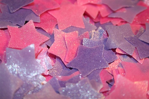 Bath Confetti Stars Blackberry